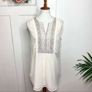 Anthropologie One September Embroidered Tunic